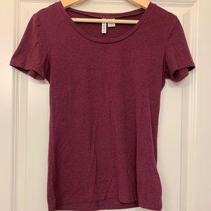 H&M Red Round-Neck T-shirt